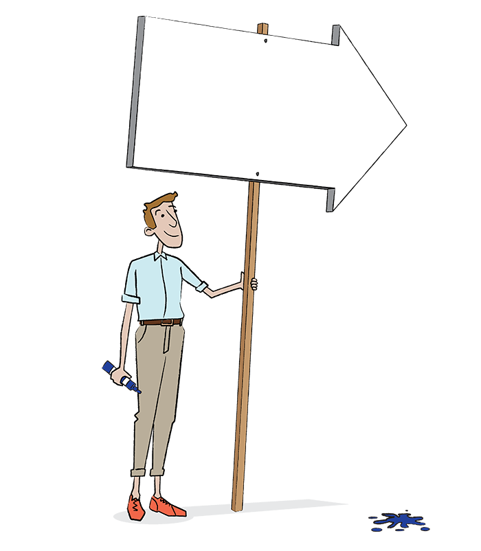 Signpost blank Emergenetics